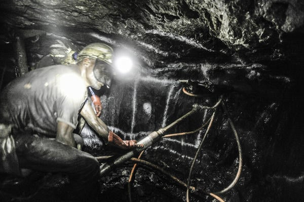 Underground images at the Lonmin Rowland Shaft