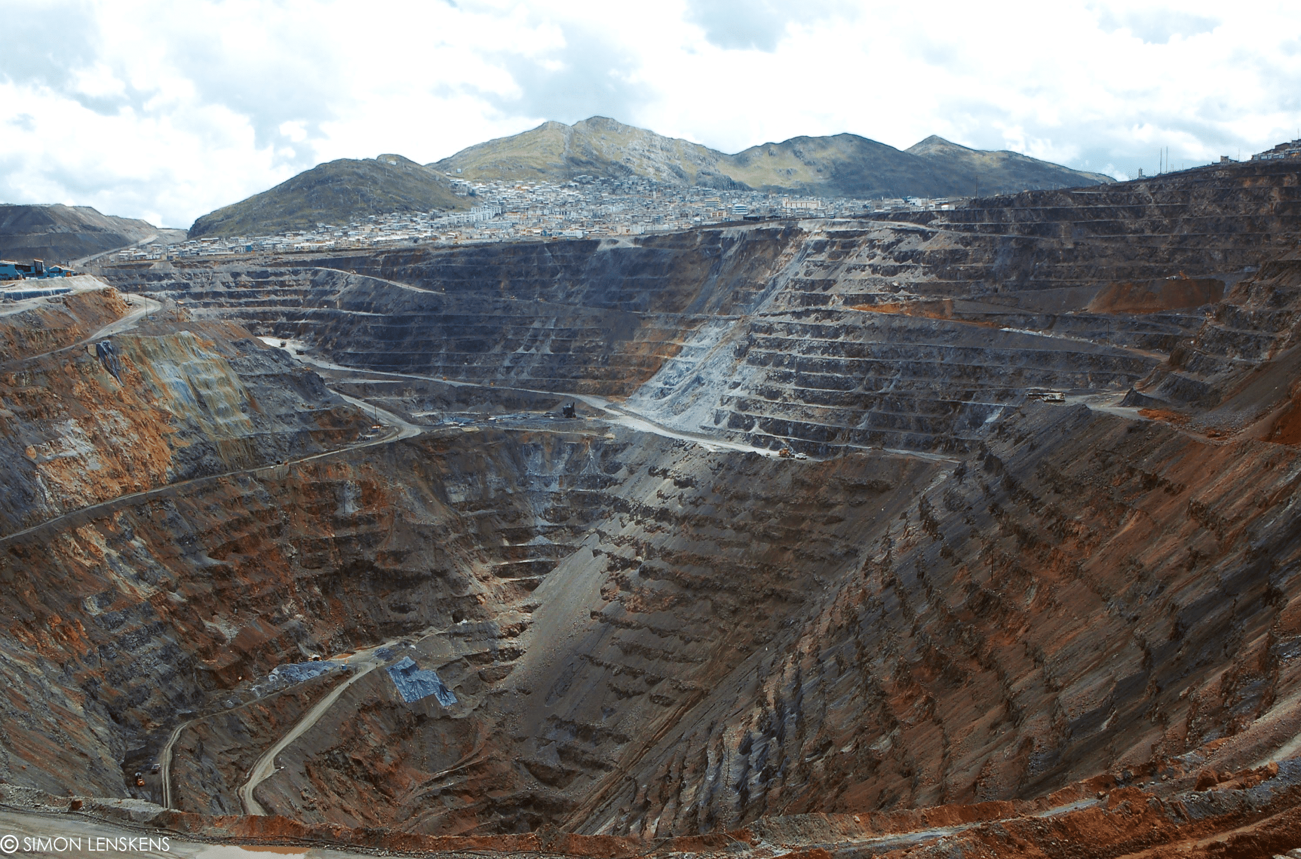 lmage of mineral mining taken from above